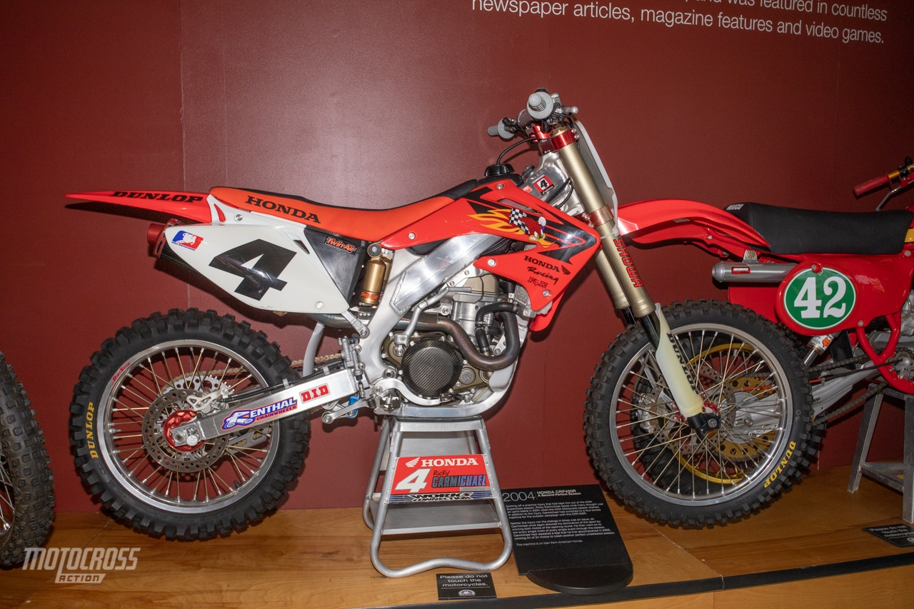Ricky Carmichael's 2004 Honda CRF450 AMA Motorcycle Hall of Fame -0860